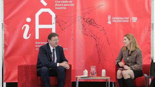Ximo Puig conversa con Nuria Oliver