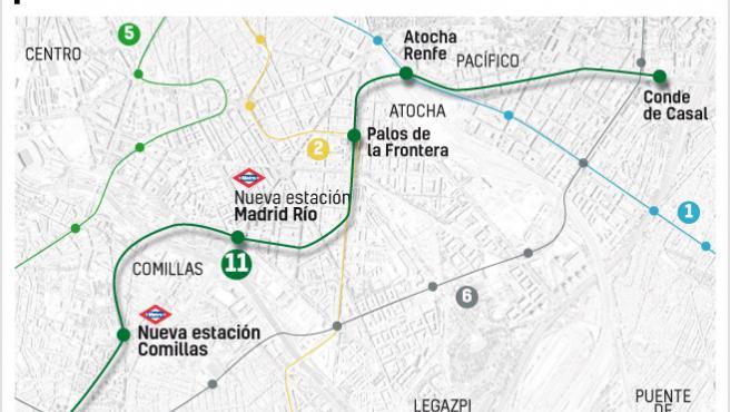 Ampliación línea 11 de Metro de Madrid.