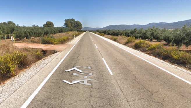 Lugar de la carretera A-312 a su paso por el municipio jiennense de Chiclana de Segura, donde fue hallado un ciclista fallecido.