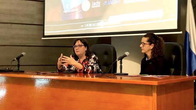 La consejera de Acción Social del Cabildo, Marian Franquet, en la inauguración de unas jornadas sobre prevención