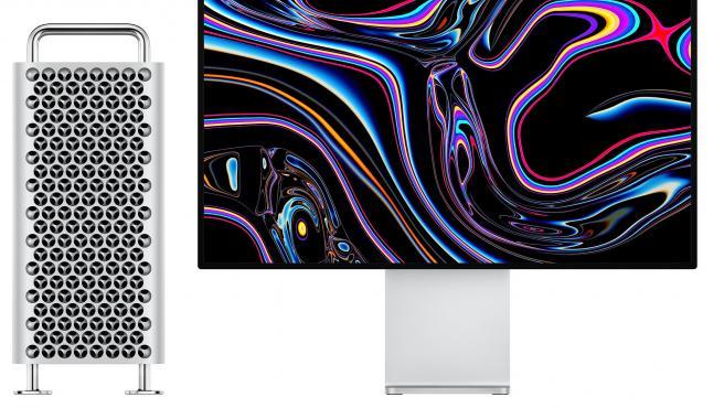Vista del Mac Pro y el monitor Pro Display XDR