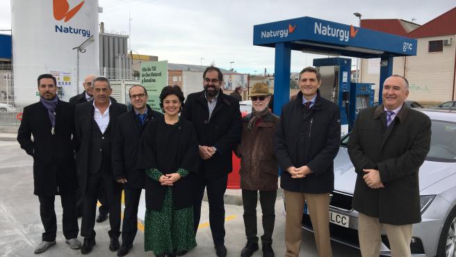 Np Inaugurada La Primera Estación De Carga De Gas Natural Para Vehiculos De Ciudad Real