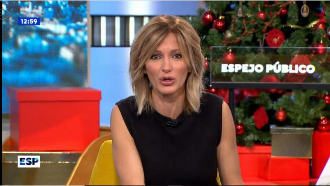 Susanna Griso presentadora del programa 'Espejo Público'.