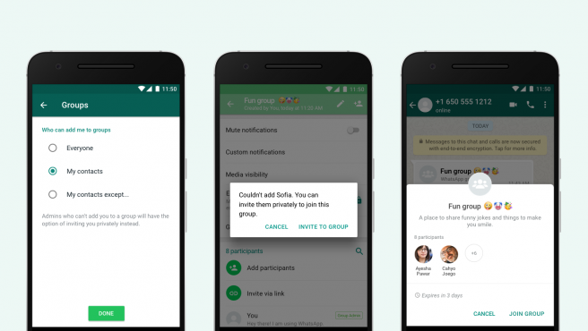La nueva actualización de Whatsapp evitará que te añadan a chats de grupo