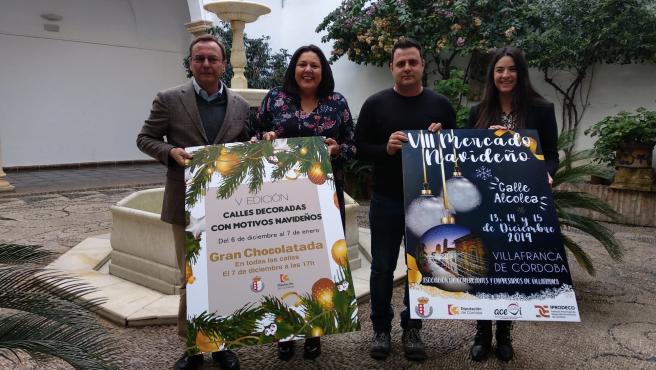 Amo (centro) presenta el VIII Mercado Navideño de Villafranca de Córdoba