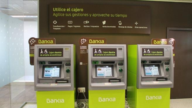 Cajeros de Bankia en las oficinas ágiles