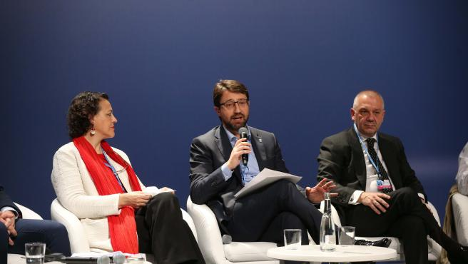 El consejero de Industria, Empleo y Promoción Económica, Enrique Fernández, durante su participación, esta mañana, en el panel La iniciativa de Acción Climática para el Empleo dentro la Cumbre de Acción Climática de las Naciones Unidas de 2019.