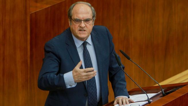 Imagen de archivo del portavoz del PSOE en la Asamblea de Madrid, Ángel Gabilondo.