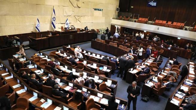 El Parlamento israelí (Knesset), durante la votación para la disolución de la Cámara y la convocatoria de elecciones.