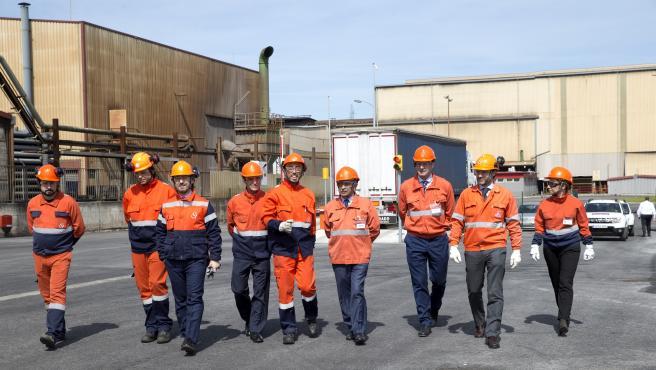 Revilla en la planta de Global Steel Wire (GSW) en Nueva Montaña (archivo)