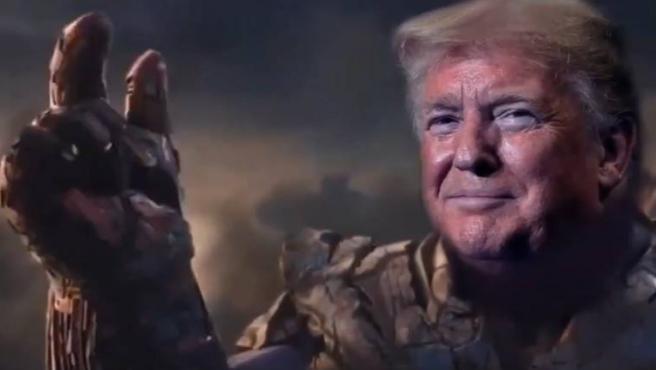 Donald Trump es comparado con Thanos... en una campaña orquestada por el propio Trump