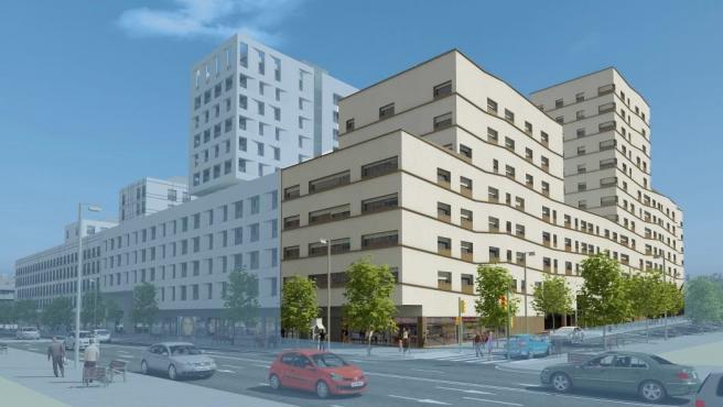 El edificio de vivienda pública que se construirá en las Casernes de Sant Andreu