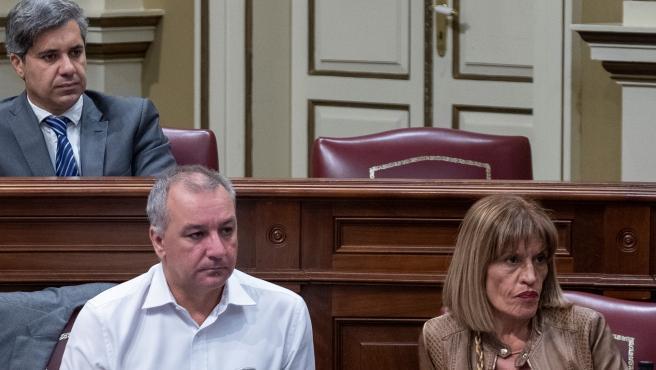 Luis Campos y Esther Gonzalez, diputados de Nueva Canarias
