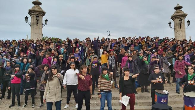 Performance reivindicativa 'Un violador en tu camino' en València