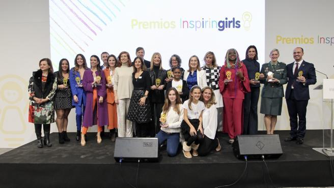 Foto de familia de los Premios Inspiring Girls.