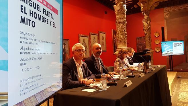 Presentación de la biografía 'Miguel Fleta. El hombre y el mito', de Sergio Castillo y Alejandro Martínez.