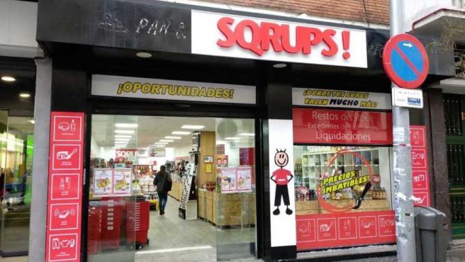 Imagen de la tienda Sqrups! de la calle Bravo Murillo de Madrid.