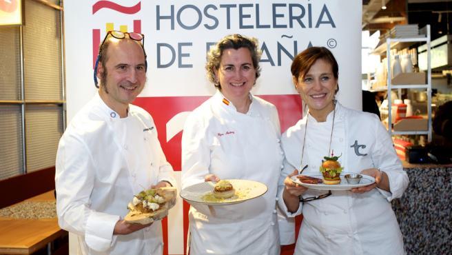 Las tapas sostenibles de Joaquín Felipe, Pepa Muñoz y Teresa Carles.