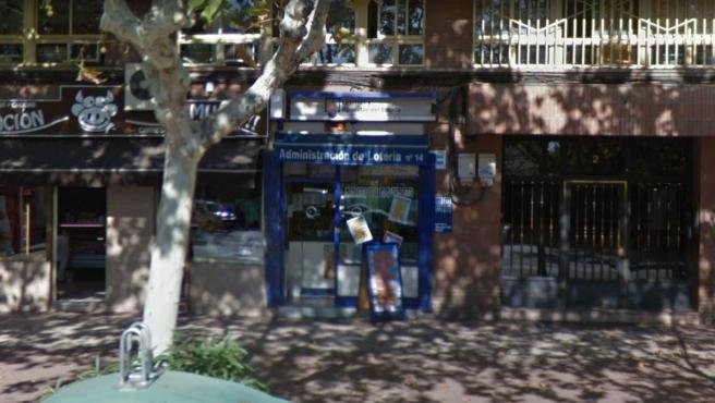 Imagen de la administración de loterías número 14 de Valladolid.