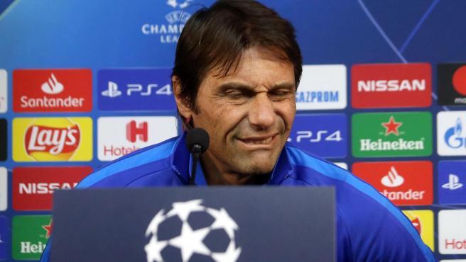 Antonio Conte, en rueda de prensa.