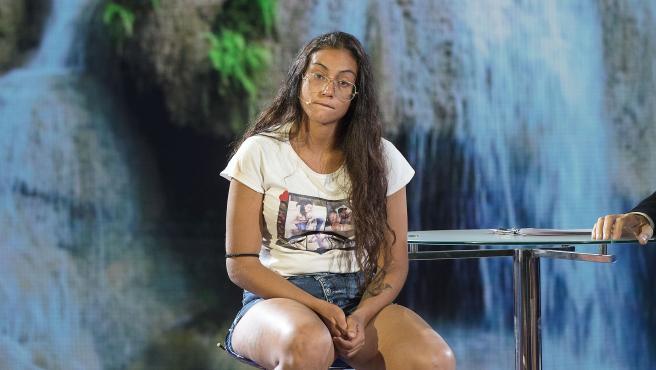 Dakota Tárraga, en el plató de 'Supervivientes'.
