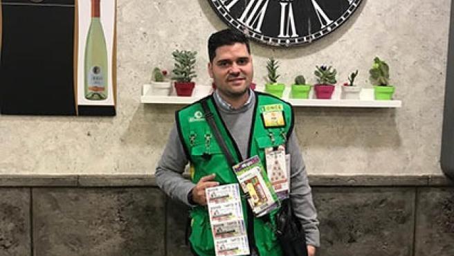 El vendedor de la ONCE Jorge Juan Buendía