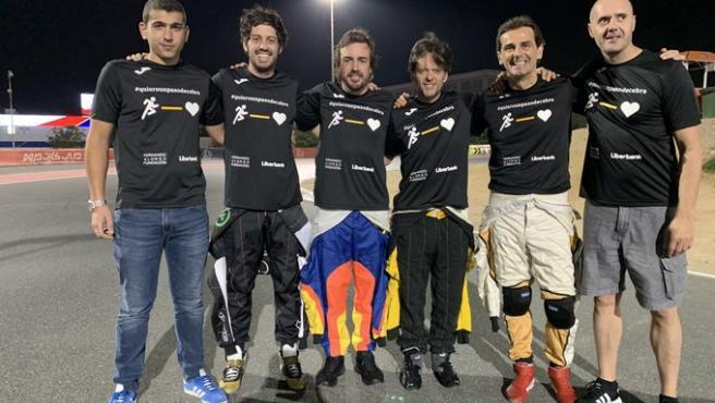 El FA Racing, liderado por Alonso, antes de comenzar las 24 horas de Dubai.