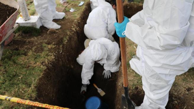 Fosa común hallada en el departamento colombiano de Antioquía.