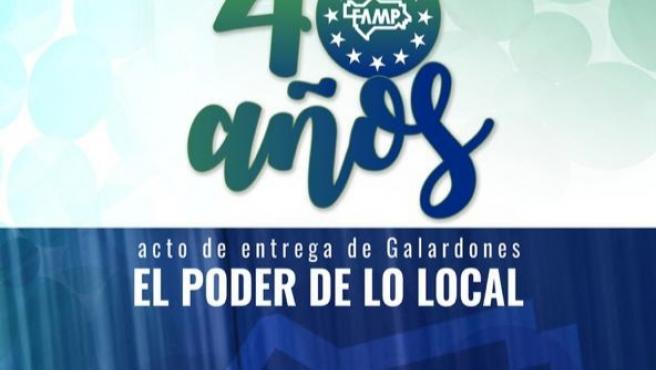 Galardones de la FAMP por el 40 aniversario de ayuntamientos democráticos.