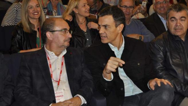 Javier Lambán y Pedro Sánchez, en una imagen de archivo.