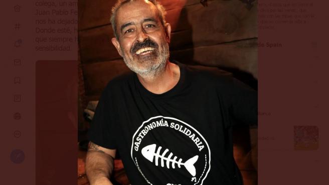 Imagen del cocinero Juan Pablo Felipe.