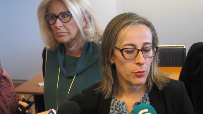 La conselleira de Infraestruturas e Mobilidade, Ethel Vázquez, este lunes en Vigo