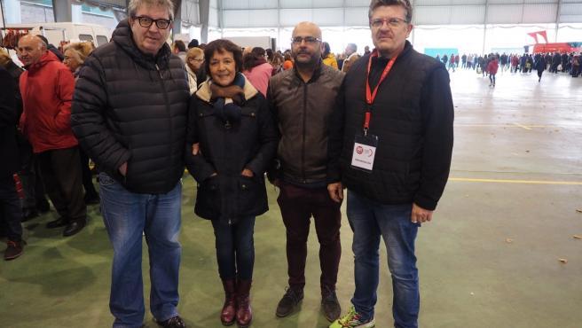 La delegada del Gobierno, Mercedes Martín, asiste a la inauguración del XI Mercado Agroalimentario que organizan UGT y UPA en Ávila.
