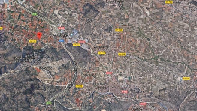 Localización de Gata de Gorgos