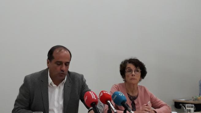 Los portavoces del Foro Social Agus Hernan y Teresa Toda