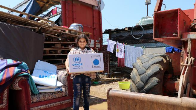 Shelter Kits are distributed by UNHCR & Partners in Mt Lebanon Governorate, Lebanon.