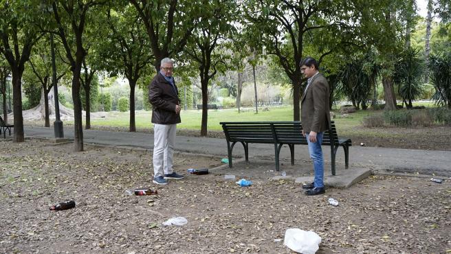 Álvaro Pimentel visita el Parque de Los Príncipes junto al concejal Miguel Ángel Aumesquet