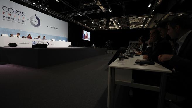 Vista general de la sesión plenaria de la Cumbre del Clima COP25.