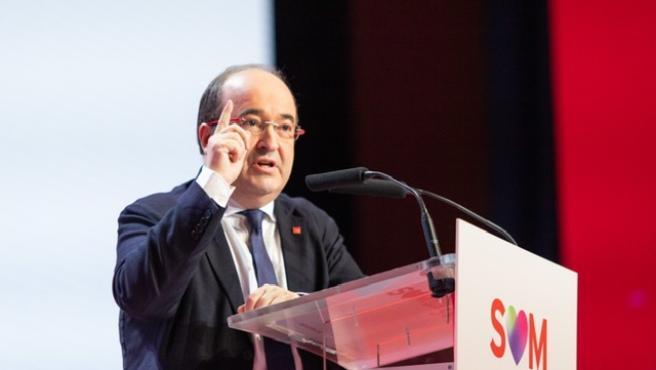 El primer secretario del PSC, Miquel Iceta, este domingo en el 14 Congreso del partido