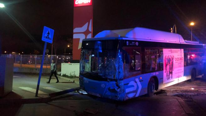 Estado en el que ha quedado el autobús.