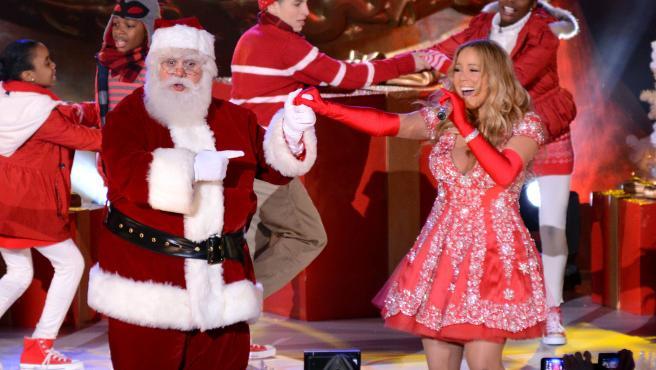 La cantante Mariah Carey, en una actuación navideña en el Rockefeller Center de Nueva York.