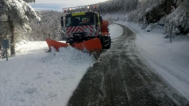 Nieve en la provincia de Lugo.