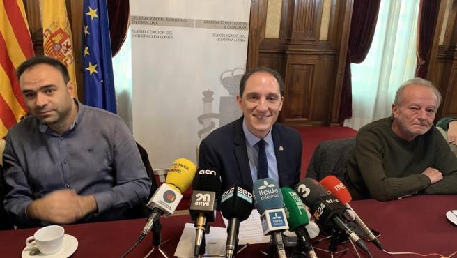 El subdelegado del Gobierno en Lleida, José Crespín en el tradicional encuentro navideños con periodistas.