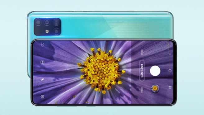 Vista del A51 en la web de Samsung en Vietnam