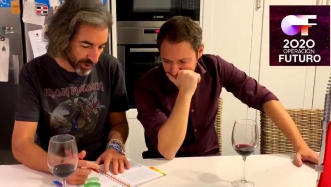 Manuel Martos y Joe Pérez-Orive, en un vídeo humorístico subido a Twitter.