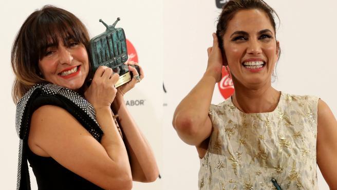 Candela Peña y Toni Acosta, con sus premios MIM.