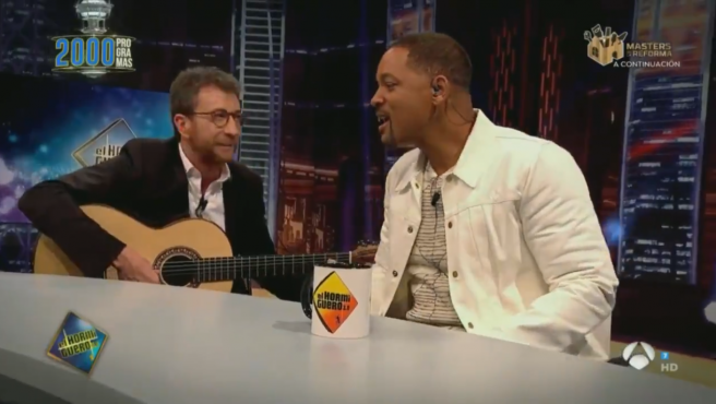 Pablo Motos y Will Smith, en 'El hormiguero'.
