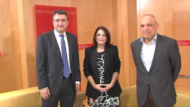 Reunión entre Lastra y Aitor Esteban, portavoz del PNV