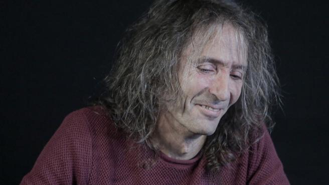 Robe Iniesta en la rueda de prensa de despedida de Extremoduro