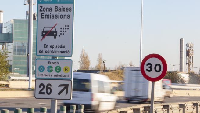 Señalización de la Zona de Bajas Emisiones.